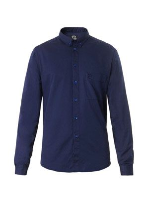 Double-collar cotton shirt