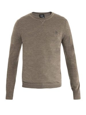 Crew-neck military sweater