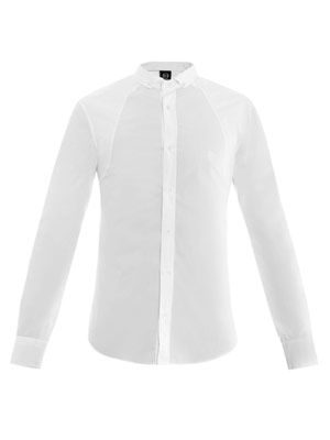 Cotton poplin harness shirt
