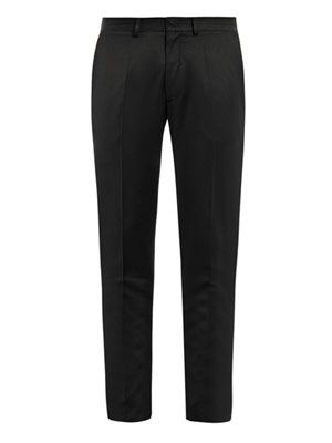 Peg-leg tailored trousers