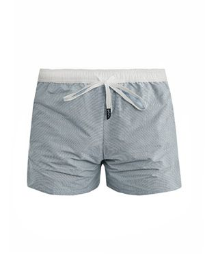 Oxford check swim shorts
