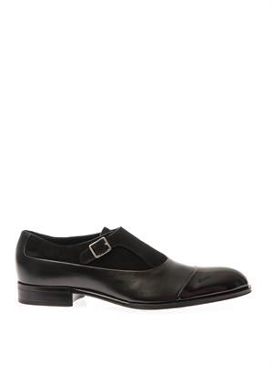 King Coles leather monk-strap shoes