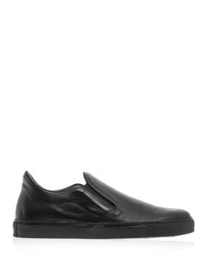 Llewlyn leather trainers