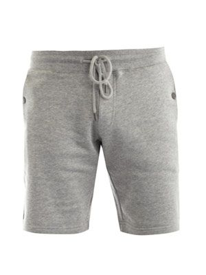 Banded cotton track shorts
