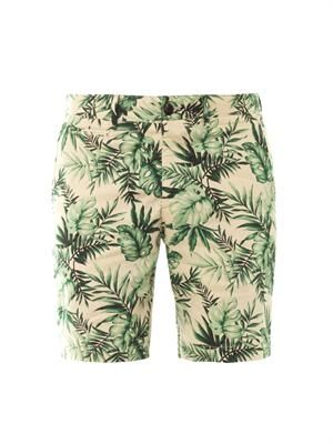 Jungle-print chino shorts