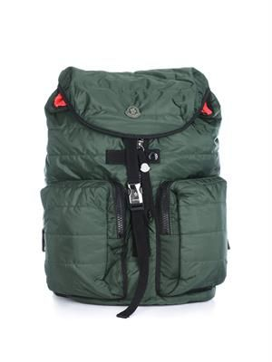 Qulited nylon backpack