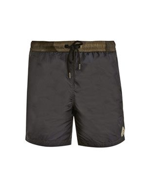 Camouflage waistband swim shorts