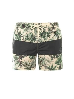 Jungle-print swim shorts