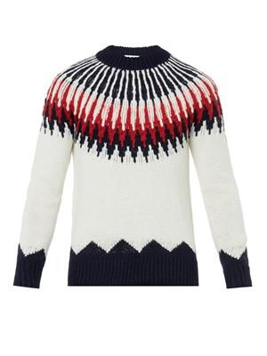 Mountain wool-knit sweater
