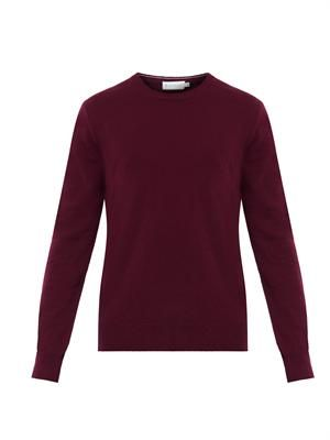 Crew-neck wool sweater