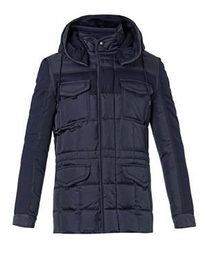 Jacob hooded quilted field jacket