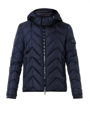 Berriat chevron down-filled jacket