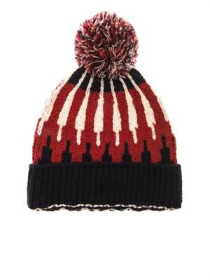 Mountain wool-knit beanie