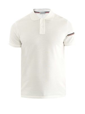 Banded sleeve polo top