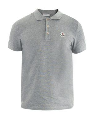 Banded placket polo top
