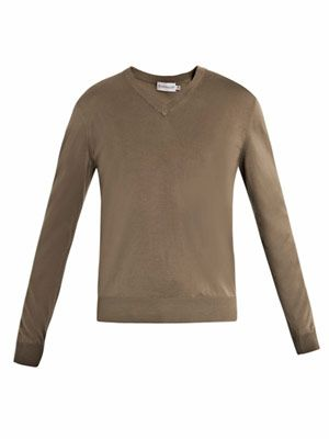 V-neck super-fine sweater
