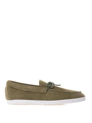 Long Beach suede boat shoes