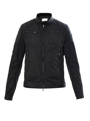 Salomon leather-panel jacket
