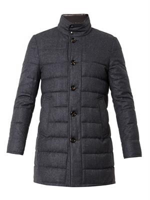 Vallier wool-flannel down coat