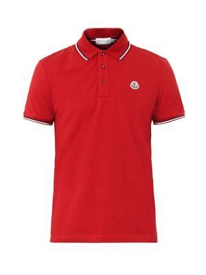 Logo-badge polo shirt