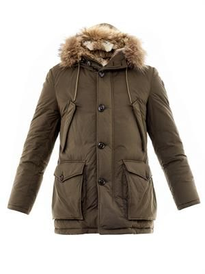 Chateaubriant fur lined down jacket