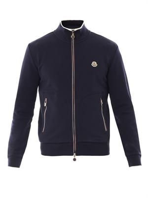 Cotton-jersey zip sweatshirt