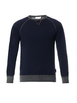 Bi-colour crew-neck sweater