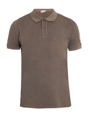 Pique cotton polo top