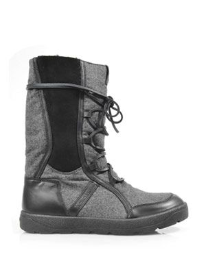 Brunico flannel & leather boots