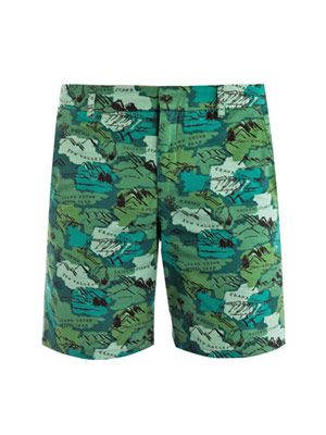 Travel-print shorts