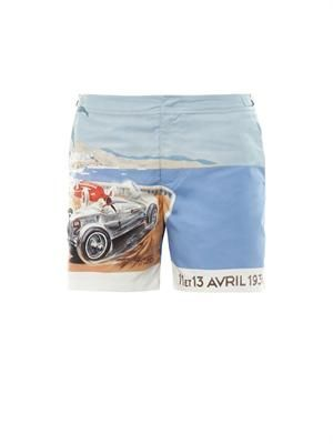 Bulldog Monaco-print swim shorts