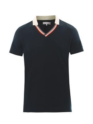 Spencer V-neck polo top