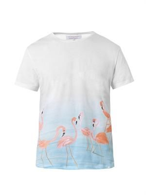 Tommy Flamingo-print cotton T-shirt