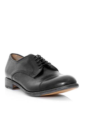 Derby stitch shoes