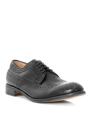 Washed wingtip brogues