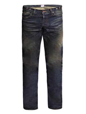 Oily crinkle fury-fit jeans