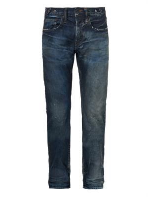 Noir Demon tapered-leg jeans