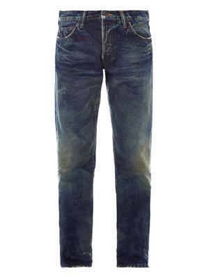 Noir Rambler skinny straight-leg jeans