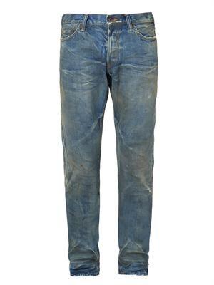 Noir Fury tapered-leg jeans