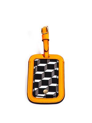 Cube-print luggage tag
