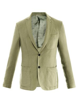 Buell cotton-linen jacket