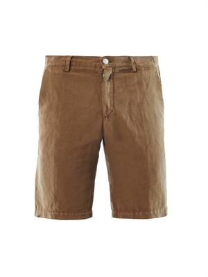 Vela linen and cotton-blend shorts