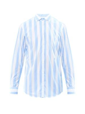 Canary candy-stripe shirt