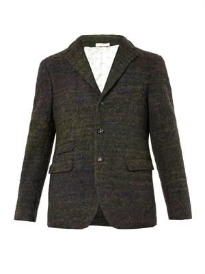 Striped wool-blend blazer