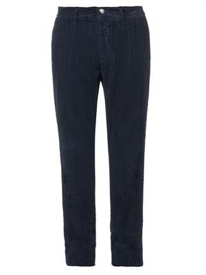 Winch washed jumbo-corduroy trousers
