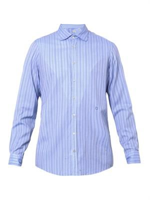 Canary striped cotton shirt