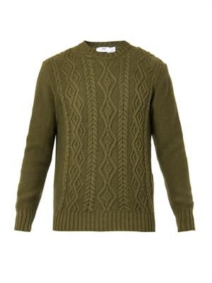 Wool and cashmere-knit sweater