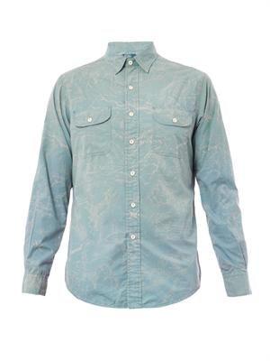 New York map-print cotton shirt