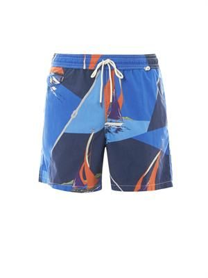 Traveler sail-print swim shorts