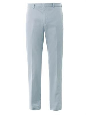 Slim-fit Hudson cotton chinos